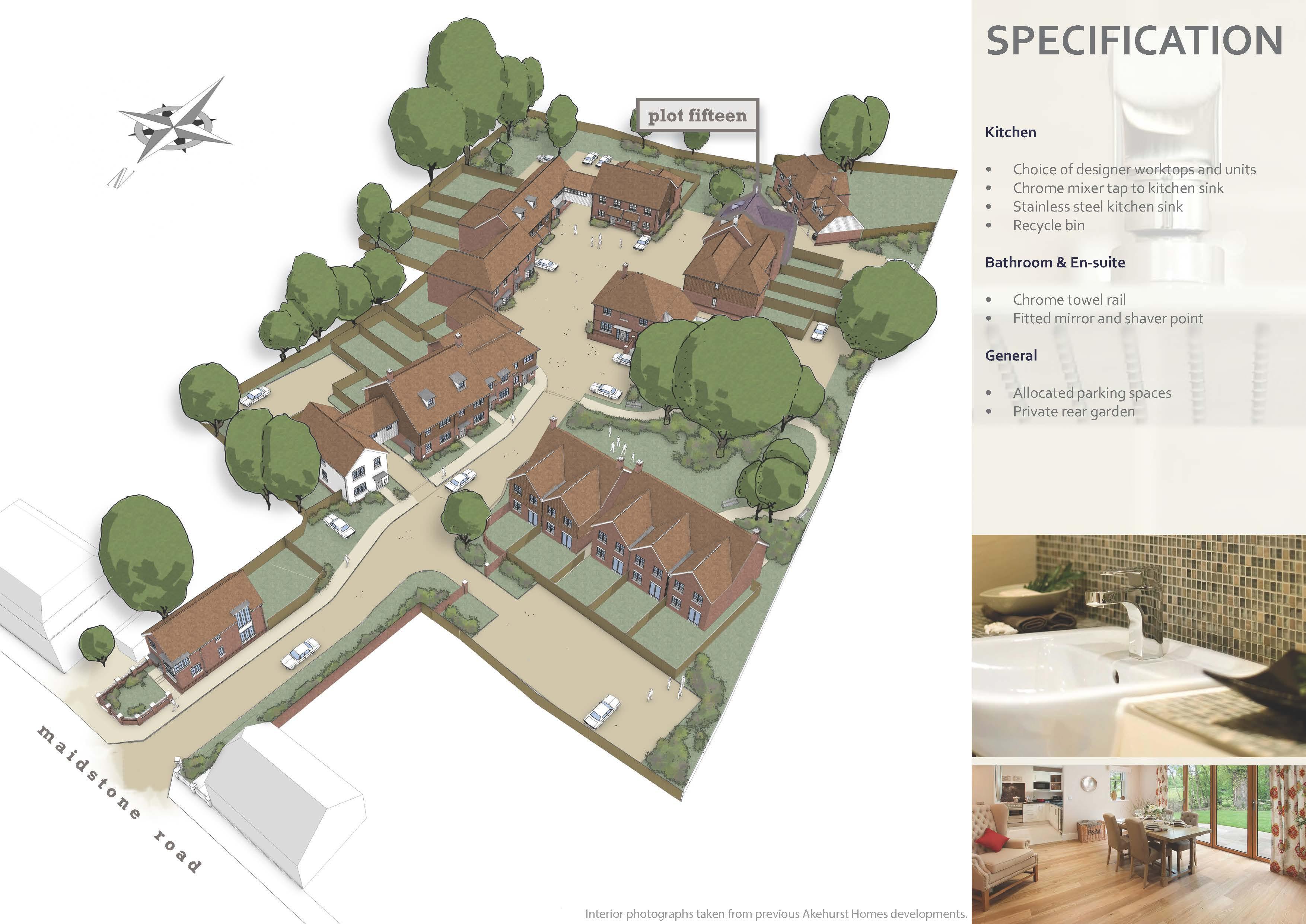 Golding Places house for sale 3-beds Plot 15 Tolhurst Way Site Plan
